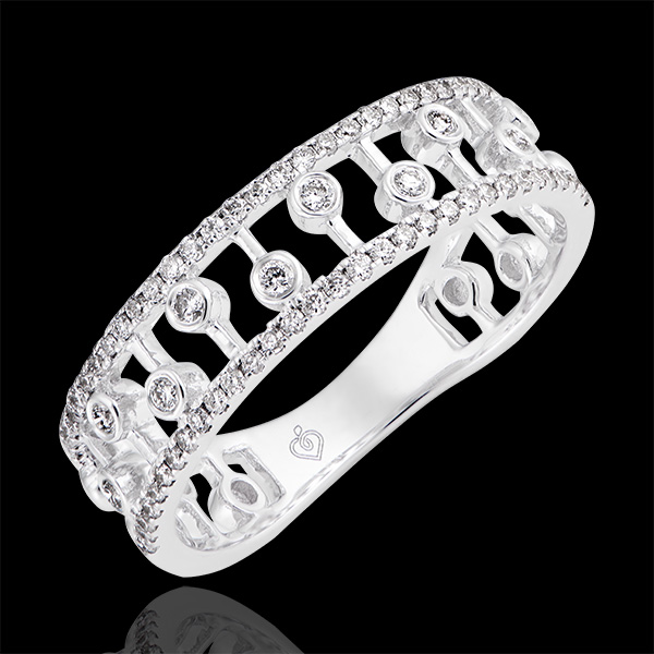 Anillo Destino - Filipina- oro blanco de 18 quilates y diamantes