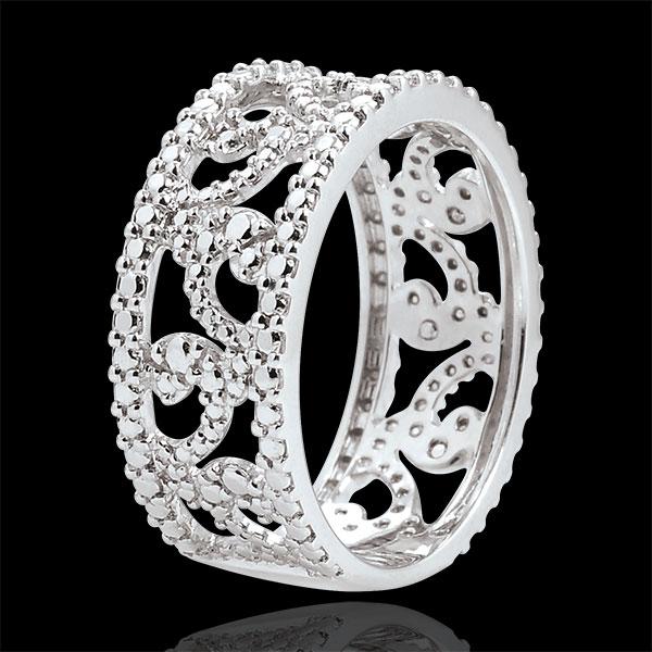 Anillo Destino - Varda - oro blanco 18 quilates y diamante
