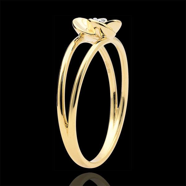 Anillo Eclosión - Primera Rosa - oro amarillo 9 quilates y diamante