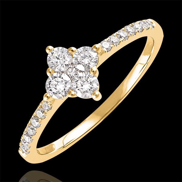 Anillo Frescura - Dina - oro amarillo de 9 quilates y diamantes