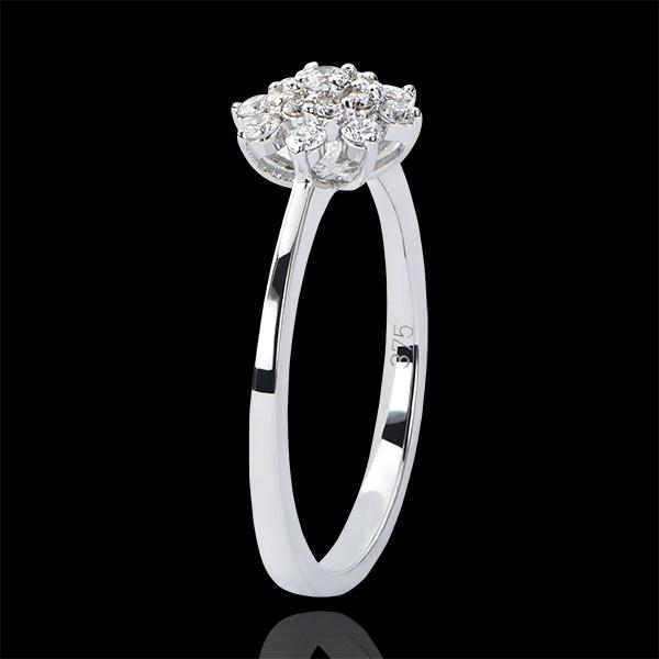 Anillo Frescura - Flor de las Cimas - oro blanco de 18 quilates y diamantes