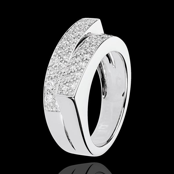 Anillo Hada - Doble Destino - oro blanco 18 quilates - diamantes 0. 68 quilates