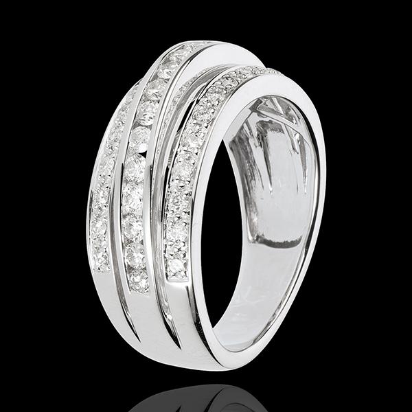 Anillo Hada - Vía Láctea - oro blanco 18 quilates - 43 diamantes 0. 7 quilates