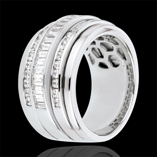 Anillo Hada - Vía Láctea - oro blanco 18 quilates - 48 diamantes 1. 58 quilates