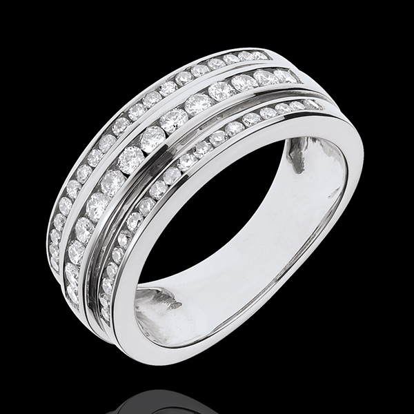 Anillo Hada - Vía Láctea - oro blanco 18 quilates - 52 diamantes 0. 63 quilates
