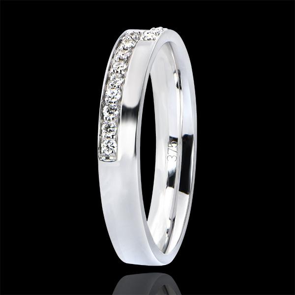 Anillo de Matrimonio Abundancia - Pasión - oro blanco de 18 quilates y diamantes