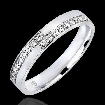 Anillo de Matrimonio Abundancia - Pasión - oro blanco de 9 quilates y diamantes