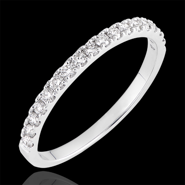 Anillo de Matrimonio Betina - oro blanco de 18 quilates y diamantes