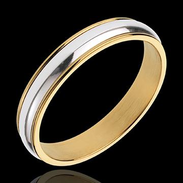 Alianza Henri - oro blanco y oro amarillo 18 quilates
