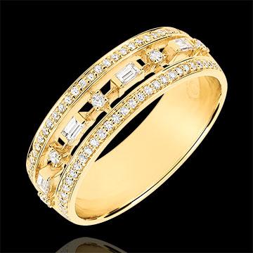 Anillo Destino - Pequeña Emperatriz - 71 diamantes - oro amarillo 9 quilates