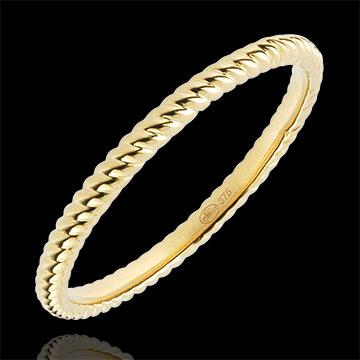 Anillo Cuerda de Oro - oro amarillo 9 quilates