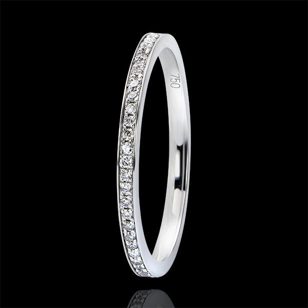 Anillo de Matrimonio Origen - Engaste en Granete - oro blanco de 9 quilates y diamantes