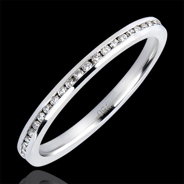 Anillo de Matrimonio Origen - Perlas de rocío - oro blanco de 18 quilates y diamantes