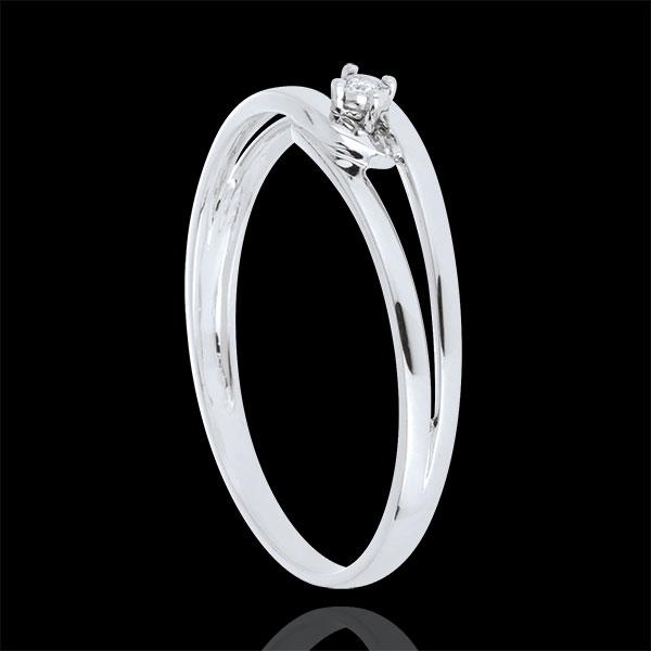 Anillo Modernity diamante oro blanco 9 quilates - diamante 0,01 quilates