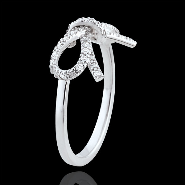 Anillo Nudo fineza diamantes blancos - Plata y diamantes