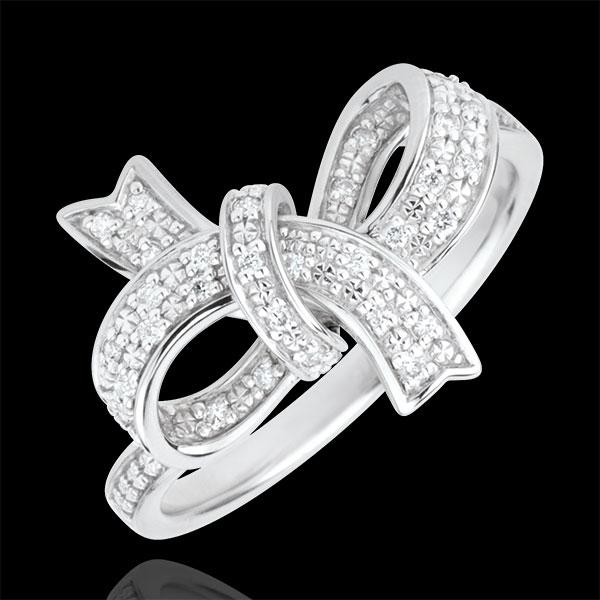 Anillo Nudo perfecto - Plata y diamantes