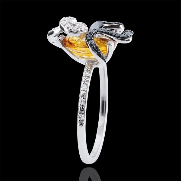 Anillo Paseo Soñado - Gorgonia - Plata, diamantes y piedras finas