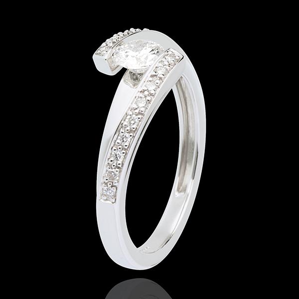 Anillo de Pedida Destino - Aliénor - oro blanco 18 quilates - diamante 0. 37 quilates
