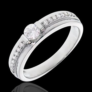 Anillo de Pedida Solitario Destino - Eugénie - oro blanco 18 quilates - diamante 0. 22 quilates