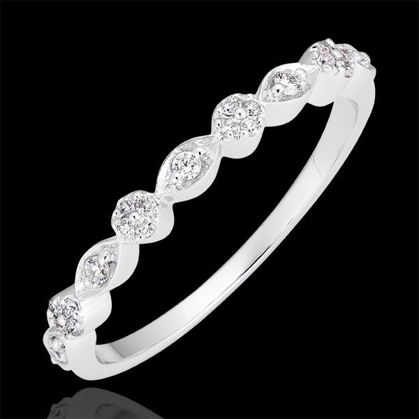 Anillo Pequeñas Perlas - oro blanco de 18 quilates y diamantes
