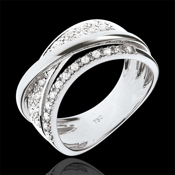 Anillo Real Saturno modificado -  oro blanco 18 quilates y diamantes