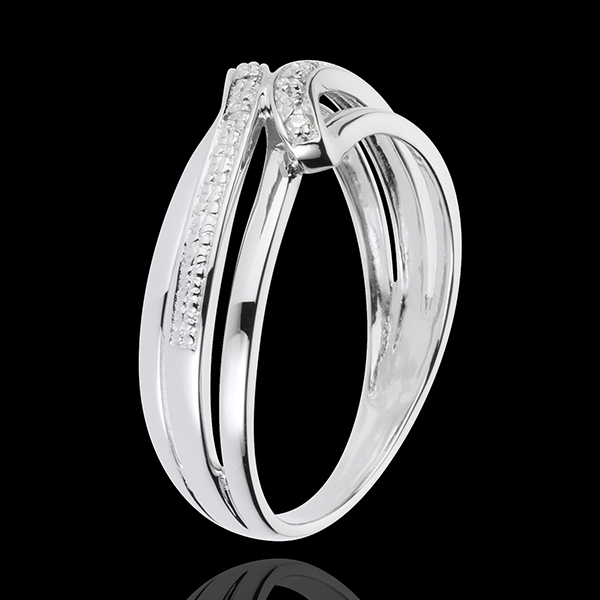 Anillo Serenity - oro blanco 18 quilates - 6 diamantes