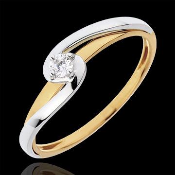 394283b3efa Anillo Solitario Silly - oro blanco y oro amarillo 18 quilates ...