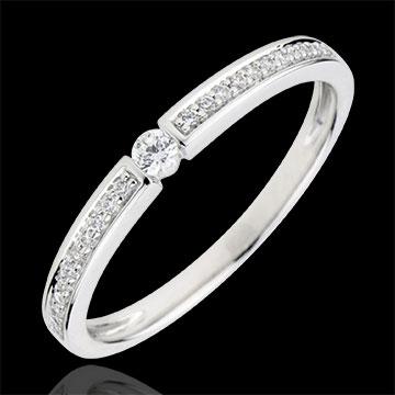 Anillo Solitario Ultimi - oro blanco 9 quilates - diamante 0,05 quilates