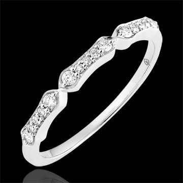 Anillo Stella - oro blanco de 18 quilates y diamantes