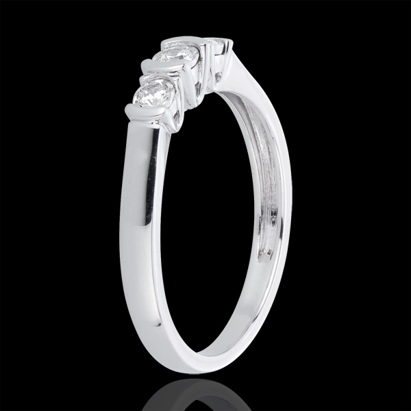 Anillo Triología Paréntesis - oro blanco 18 quilates y diamantes