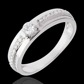 Anillo de Pedida Solitario Destino - Eugénie - oro blanco 18 quilates - diamante 0. 26 quilates