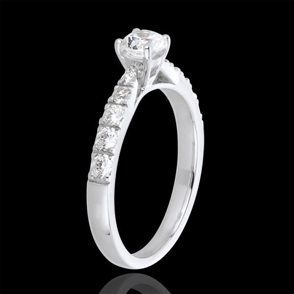 Anillosolitario Belle Chérie oro blanco y diamantes