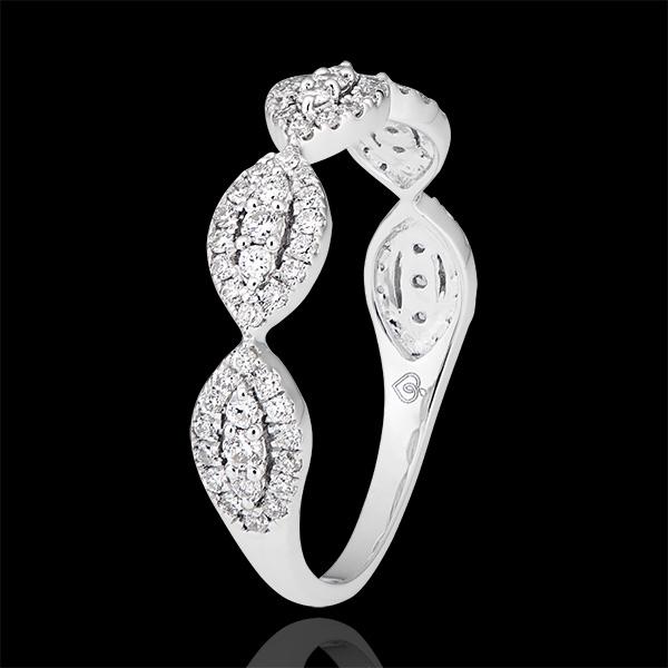 Anneau Amandiane - or blanc 9 carats et diamants