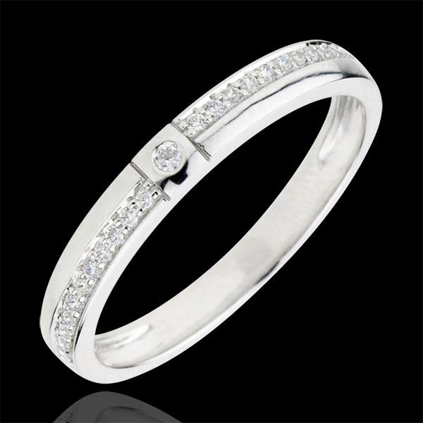 Anneau diamanté Mille Merveilles - or blanc 9 carats
