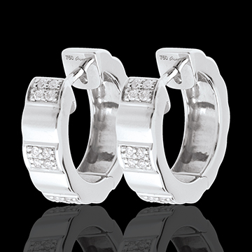 Arcade hoops white gold paved