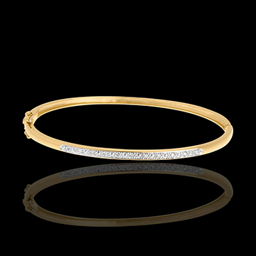 Ring Diorama Diamant - Geel Goud - 11 Diamanten