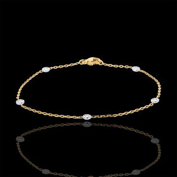 Diamantarmband Sternbild in Weiß-und Gelbgold