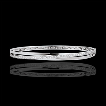 Bangle Saturnus Diamant - wit goud - 18 karaat