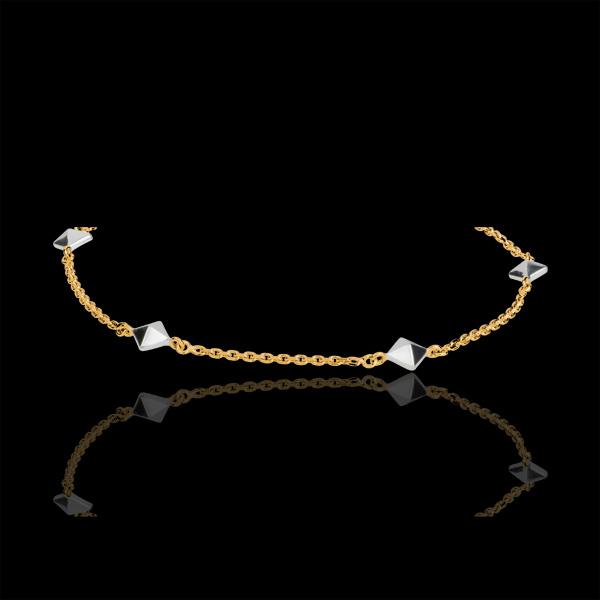 Armband Genesis - Ruwe Diamant tweekleurig - 18 karaat witgoud