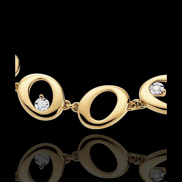 Armband Hanger 18 karaat geelgoud met diamant - 8 Diamanten