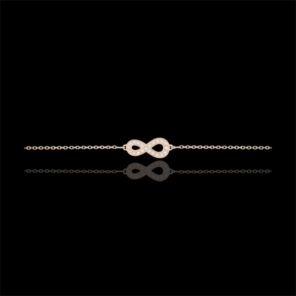 Armband Infinity - 18 karaat rozégoud met Diamanten