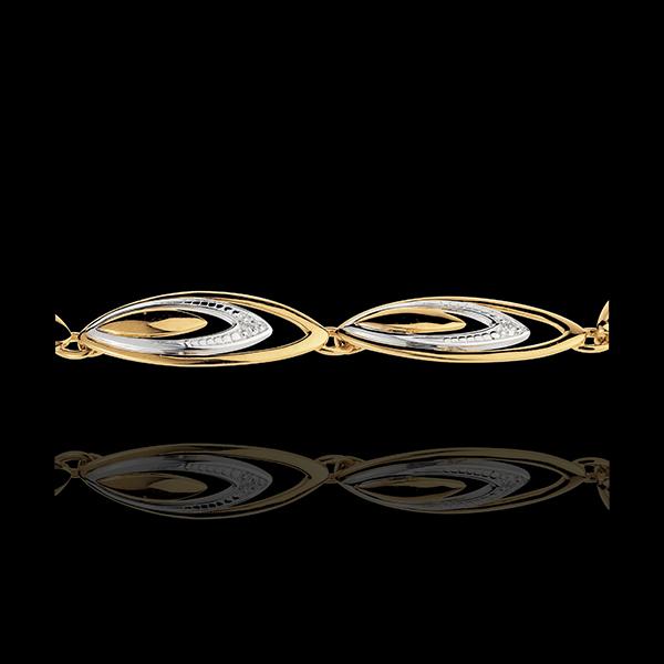 Armband Pluimen van Ganga - 18 karaat witgoud en geelgoud