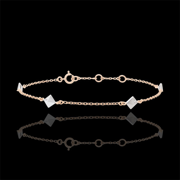 Armband Schöpfung - Rohdiamanten - Roségold - 18 Karat