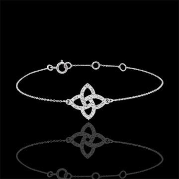 Armband Weissgold und Diamanten - Stern Prisma