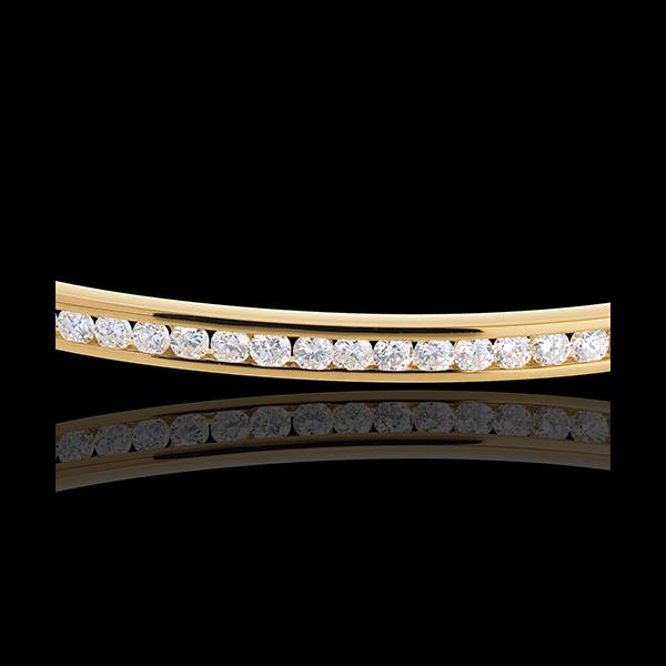 Armreif Barett in Gelbgold - 0.75 Karat - 25 Diamanten