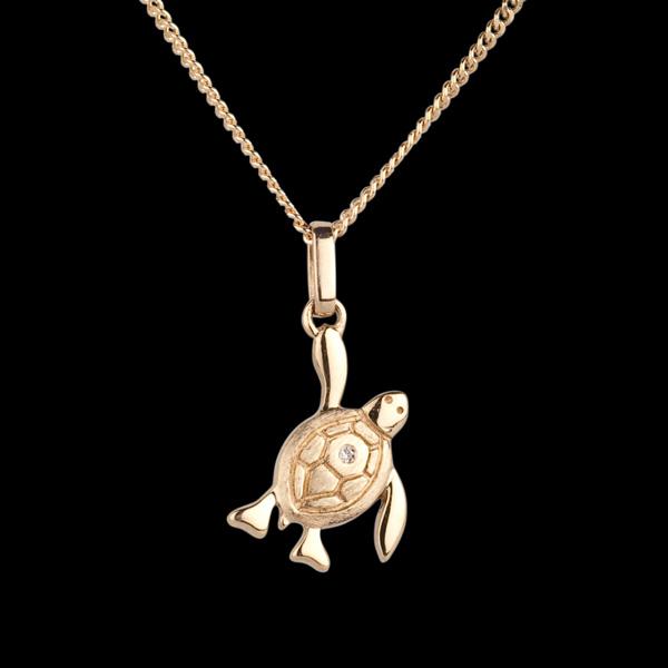 Baby Schildkröte - petite - Gelgold - 9 Karat