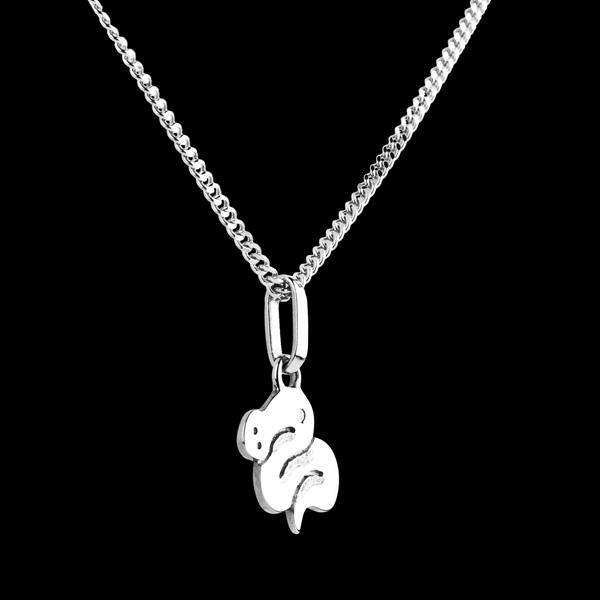 Baby snake - small model - white gold - 9 carat