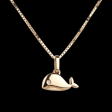Baby Whale - large model - yellow gold