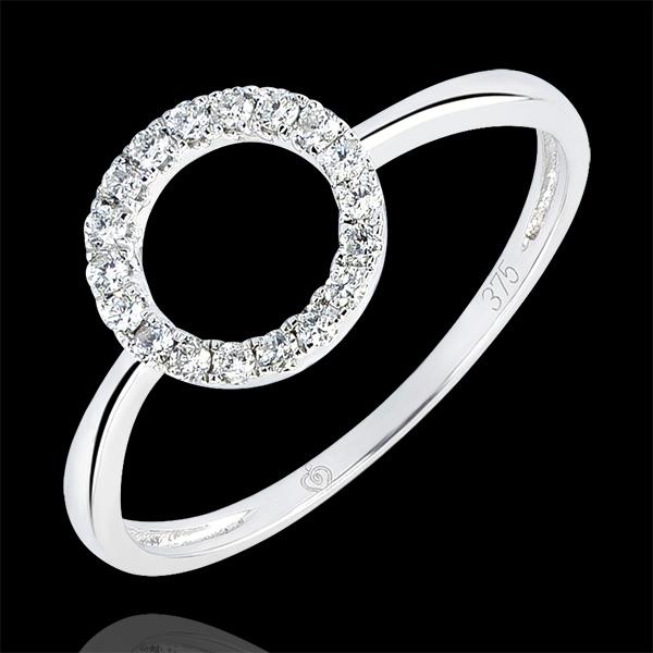 Bague Abondance - Attitude - or blanc 18 carats et diamants