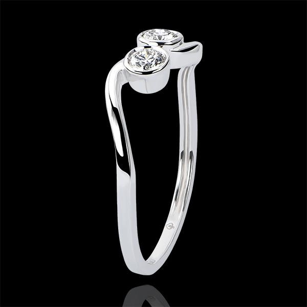 Bague Abondance - Duetto - or blanc 18 carats et diamants